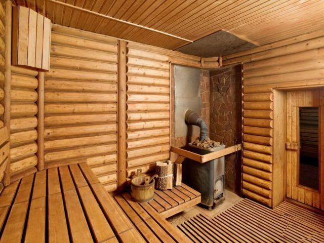 отделка русской бани