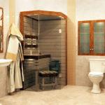 Сауна в квартире в ванной комнате