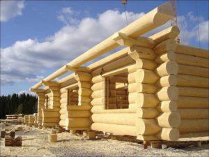 каркас дома из деревянного бруса